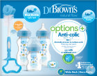 Dr. Brown's Options+ Anti-Colique Coffret Cadeau Biberon Col Large Bleu