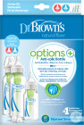Dr. Brown's Options+ Kit De Démarrage Anti-Colique Biberon 1x120ml + 2x250ml + Brosse + 3 Tétines