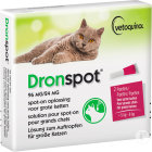 Dronspot 96mg/24mg Solution Pour Spot-On Pour Grands Chats 2 Pipettes