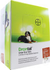 Drontal Large Dog Tasty 525/504/175mg Infections Mixtes Nématodes Et Cestodes Chiens 24 Comprimés