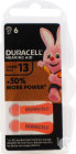 Duracell Easytab Pile Auditive (Da13) Orange 6 Pièces
