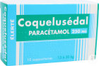 Élerté Coquelusedal Paracétamol 250mg 10 Suppositoires
