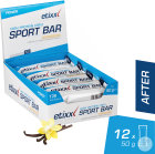 Etixx Power High Protein 40% Sport Bar Cocos Et Vanille 12x50g