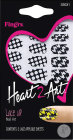 Fing-Rs Heart 2 Art Lace Up Stickers 1 Boîte