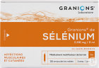 Granions De Selénium 0,96mg/2ml Solution Buvable Ampoules 30x2ml