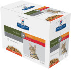 Hill's Pet Nutrition Prescription Diet Metabolic + Urinary Stress Feline Au Poulet 12x85g