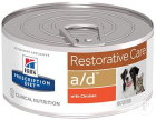 Hill's Pet Nutrition Prescription Diet Restorative Care A/D Canine-Feline Au Poulet 24x156g