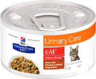 Hill's Pet Nutrition Prescription Diet Urinary Stress C/D Feline Chicken & Vegetables Boîtes 24x82g