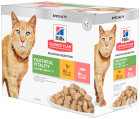 Hill's Pet Nutrition Science Plan Youthful Vitality Feline Mature Adult 7+ Multipack 2x6x85g