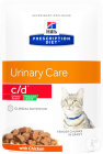 Hill's Prescription Diet C/D Féline Urinary Stress Reduced Calorie Au Poulet 12x85g