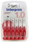 Interprox Premium Mini Conical Rouge 2-4mm Set 6 Pièces (31195)