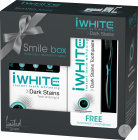 IWhite Dark Stains Coffret Smile Box IWhite Kit 1 Set + Dentifrice Tube 75ml + Brosse À Dents 1 Pièc