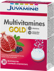 Juvamine Multivitamines Gold Fizz Arôme Fruits Rouges 30 Comprimés Effervescents