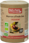 Nat&Form Marron D'Inde Bio Circulation 200 Gélules