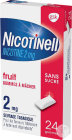 Nicotinell 2mg Nicotine Fruit Sans Sucre 24 Gommes À Mâcher