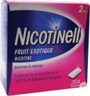 Nicotinell Nicotine 2mg Fruit Exotique 204 Gommes À Mâcher