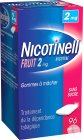 Nicotinell Nicotine 2mg Fruit Sans Sucre 96 Gommes À Mâcher