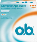 O.b. Compact Applicator Tampons Super Flux Abondant 16 Pièces