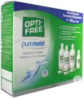 Opti-Free PureMoist Solution Multi-Fonctions De Décontamination 3x300ml + 3 Étuis