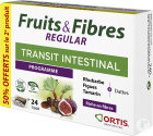 Ortis Fruits & Fibres Regular Transit Intestinal 2x24 Cubes Promo 2ème À -50%
