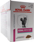 Royal Canin Veterinary Diet Chat Support Rénal Thon Sachet De Nourriture Humide 12x85g