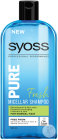 Syoss Pure Fresh Shampoing Micellaire Pour Cheveux Normaux Flacon 500ml