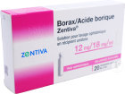 Zentiva France Borax Acide Borique Zentiva 12mg/18mg/ml Solution Pour Lavage Ophtalmique 20 Unidoses