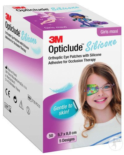 3M Opticlude Silicone Pansements Orthoptiques Girl Maxi 50 Pièces