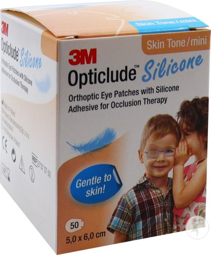 3M Opticlude Silicone Pansements Orthoptiques Skin Tone Mini Unisexe 50 Pièces