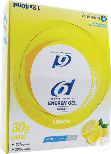 6d Energy Gel Lemon 12x40g