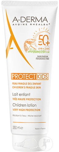 A-Derma Protect Kids Lait Enfant Très Haute Protection IP50+ Tube 250ml