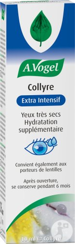 A.Vogel Collyre Extra Intensif Yeux Très Secs Hydratation Supplémentaire Flacon Compte-Gouttes 10ml