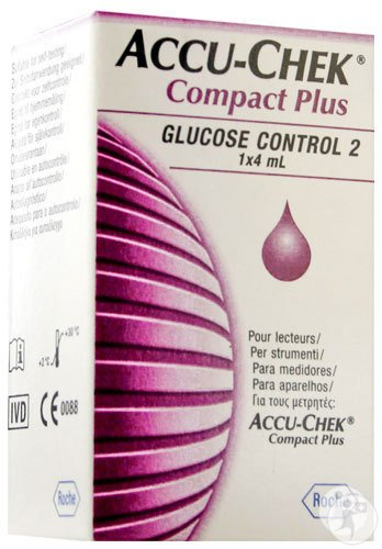 Accu-Chek Compact Plus Glucose Control 2 Solution Flacon 4ml