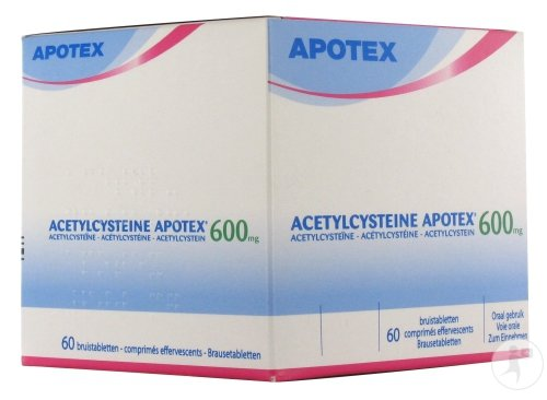 Acetylcysteine Apotex 60 Comprimés Effervescents 600 Mg