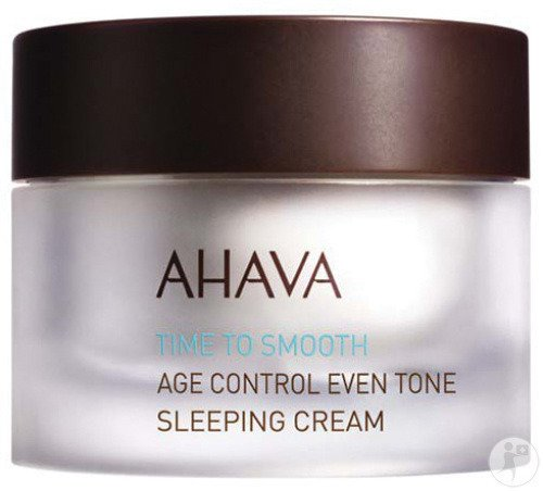 Ahava Time To Smooth Crème De Nuit Anti-Age Teint Parfait Pot 50ml
