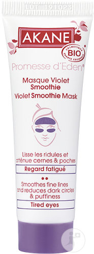 Akane Promesse D'Eden Masque Violet Smoothie Regard Fatigué Bio Tube 30ml