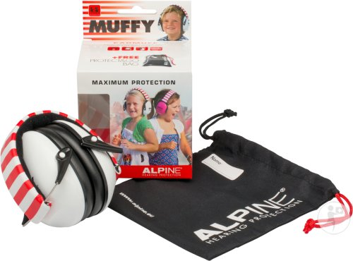Alpine Muffy Casque Auditif Kids Blanc/rouge