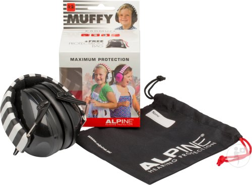 Alpine Muffy Casque Auditif Kids Noir/blanc