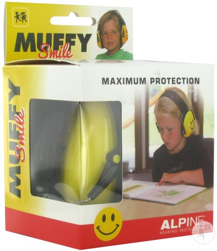Alpine Muffy Casque Auditif Kids Smile/yellow