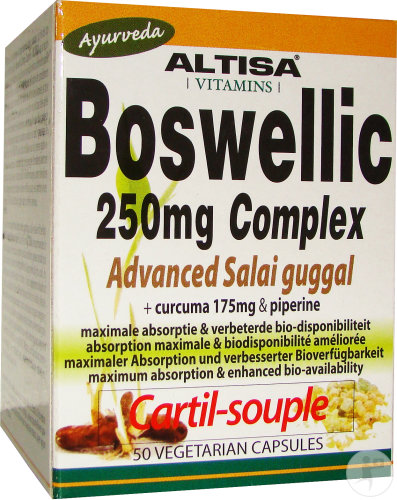 Altisa Cartil-Souple Boswellic 250mg Complex Advanced Salai Guggal 50 Capsules Végétariennes