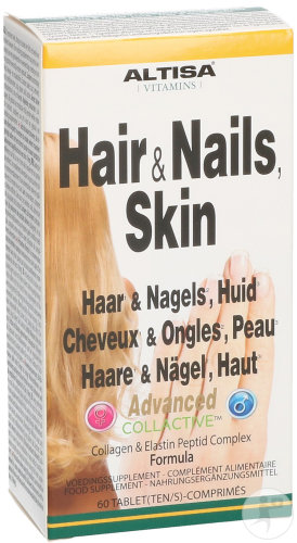 Altisa Cheveux-Ongles-Peau Advanced + Collactive Typ1 Comprimés 60