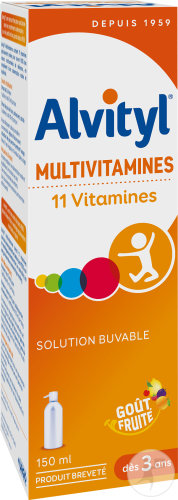 Alvityl Multivitamines Solution Buvable Flacon 150ml
