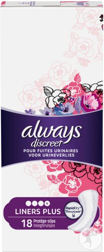 Always Discreet Incont Liners Plus Sp 18