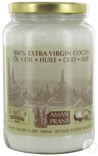 Amanprana 100% Extra Virgin Cocos Huile Pot 1600ml