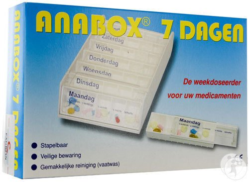 Anabox Pilulier Blanc 7 Jours NL