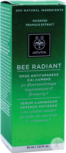 Apivita Bee Radiant Sérum Pour Éclat Flacon 30ml