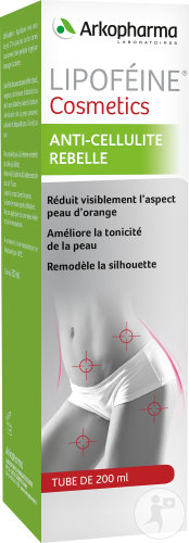 Arkopharma Gel Lipoféine Cosmetics Anti-Cellulite Rebelle Tube 200ml