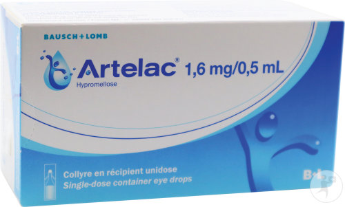 Artelac 1,6mg Hypromellose Collyre Unidoses 60x0,5ml
