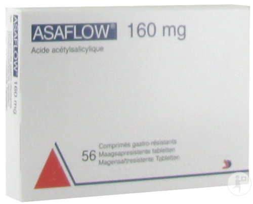 Asaflow Nycomed 56 Comprimés 160mg