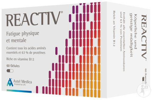 Astel Medica Reactiv Fatigue Physique Et Mentale 60 Gélules